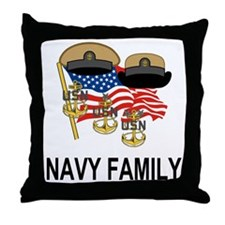 Navy Chief's Family <BR>Throw Pillow