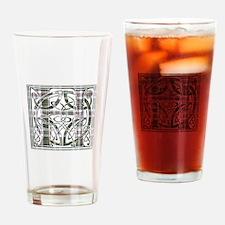Monogram-Hay dress Drinking Glass