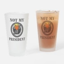 Not My President Seal Drinking Glass