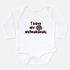 Love Weimaraner Baby Bodysuit Body Suit