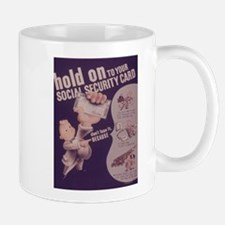 Vintage poster - Social Security Card Mugs