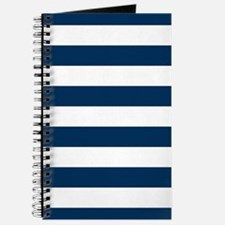 Blue, Navy: Stripes Pattern (Horizontal) Journal