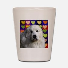 Great Pyrenees love copy.png Shot Glass