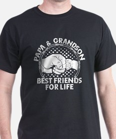 Papa And Grandson Best Friends For Life T-Shirt