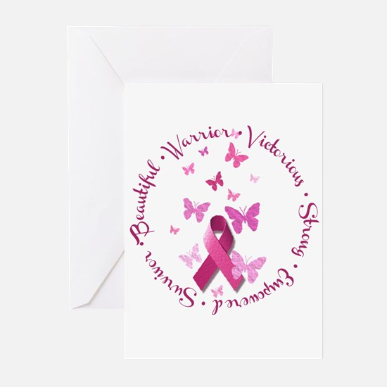 Breast Cancer Pink Ribbon Greeting Cards