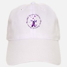 Purple Ribbon with Empowering Words Baseball Baseball Cap