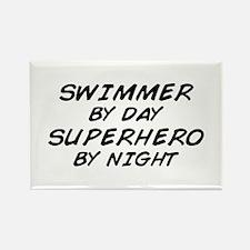 Swimmer Superhero Rectangle Magnet