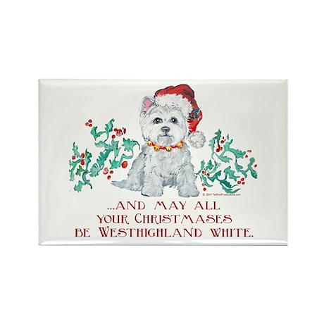Westhighland White Christmas Rectangle Magnet (10