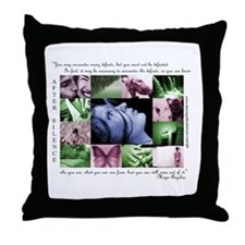 You must not be defeated  Throw Pillow