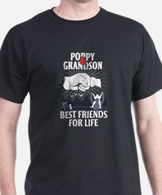 Poppy And Grandson Best Friends For Life T-Shirt