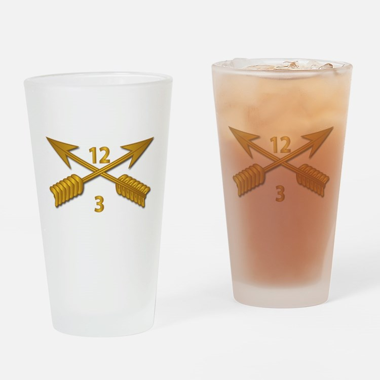 3rd Bn 12th SFG Branch wo Txt Drinking Glass