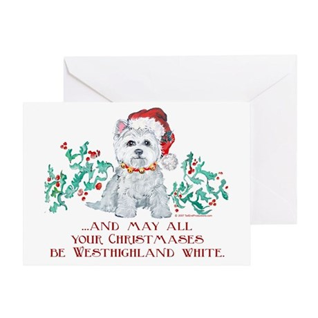 Westhighland White Christmas Greeting Card
