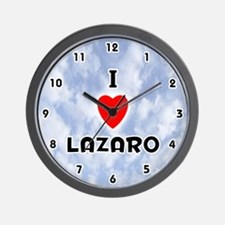 I Love Lazaro (Black) Valentine Wall Clock