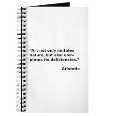 Aristotle Quote on Art & Nature Journal