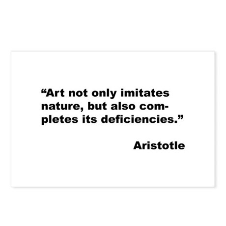 Aristotle Quote on Art & Nature Postcards (Package