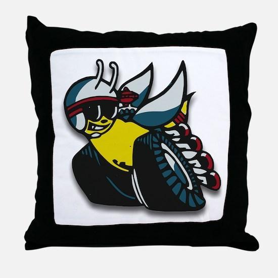 SUPER BEE Throw Pillow