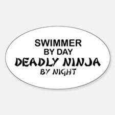 Swimmer Deadly Ninja by Night Oval Decal