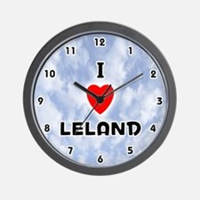 I Love Leland (Black) Valentine Wall Clock