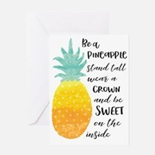 Be a Pineapple Greeting Cards
