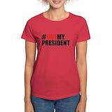 Not my president Women's Dark T-Shirt