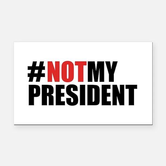 #NotMyPresident Rectangle Car Magnet
