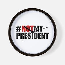 #NotMyPresident Wall Clock