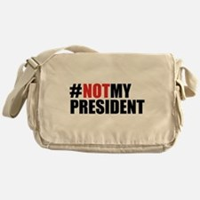#NotMyPresident Messenger Bag