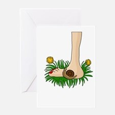 Barefoot in the grass Greeting Cards