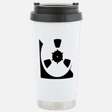 Abstract Reel of Tape Stainless Steel Travel Mug
