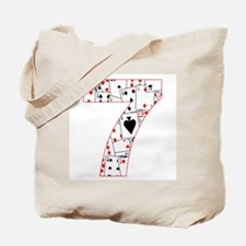 Cute Lucky number 7 Tote Bag