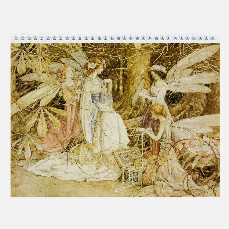 Fairy Paintings Wall Calendar