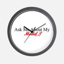"""Ask About My Model A"" Wall Clock"