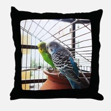Funny Yellow budgie Throw Pillow