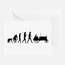 Farmers Evolution Greeting Cards