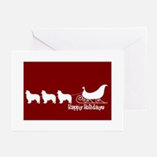 "B Collie ""Sleigh"" Greeting Cards"