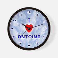 I Love Antoine (Blue) Valentine Wall Clock