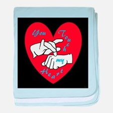 ASL You Touch My Heart baby blanket