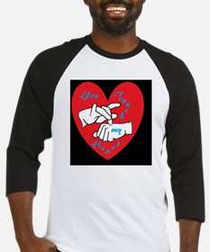 ASL You Touch My Heart Baseball Jersey