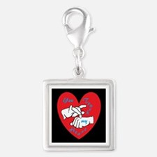 ASL You Touch My Heart Charms