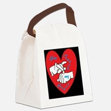 ASL You Touch My Heart Canvas Lunch Bag