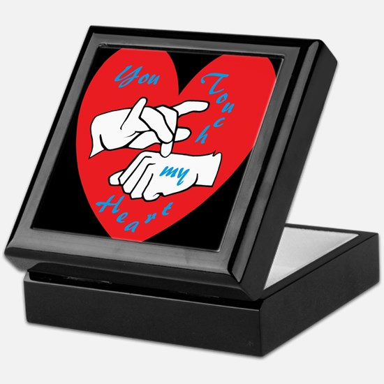 ASL You Touch My Heart Keepsake Box