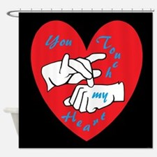 ASL You Touch My Heart Shower Curtain