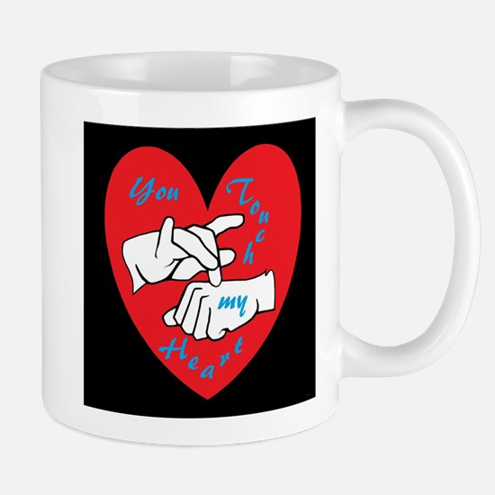 ASL You Touch My Heart Mugs
