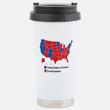 Map of Dumbfuckistan Travel Mug