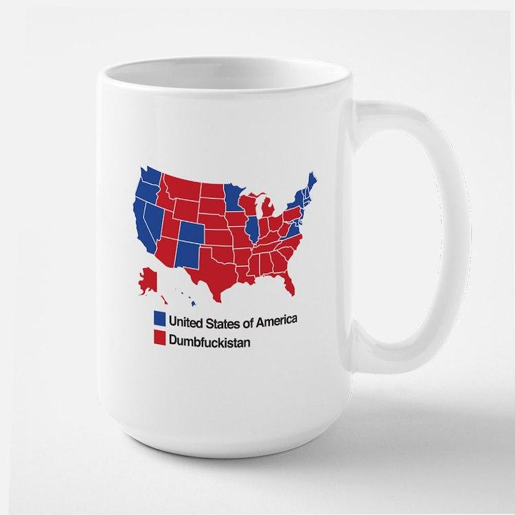 Map of Dumbfuckistan Mugs