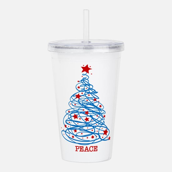 Patriotic Christmas Tr Acrylic Double-wall Tumbler