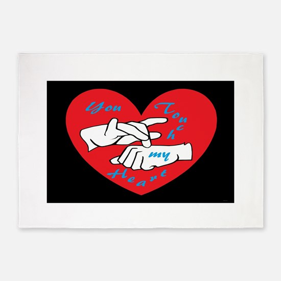 ASL You Touch My Heart 5'x7'Area Rug