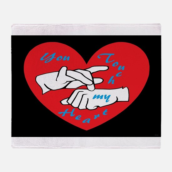 ASL You Touch My Heart Throw Blanket