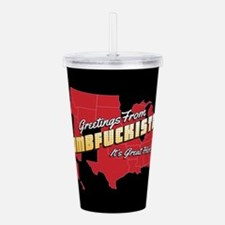Greetings from Dumbfuc Acrylic Double-wall Tumbler