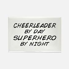 Cheerleader Superhero Rectangle Magnet